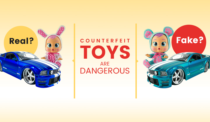 Anti-Counterfeit solution for toys