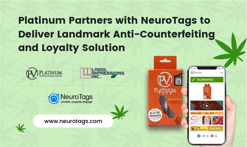 Platinum Vape chooses NeuroTags Technology to counter the counterfeits