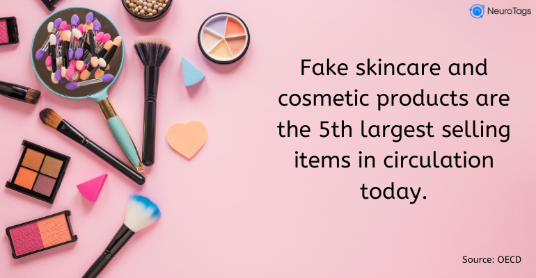 counterfeit cosmetics stats by OECD