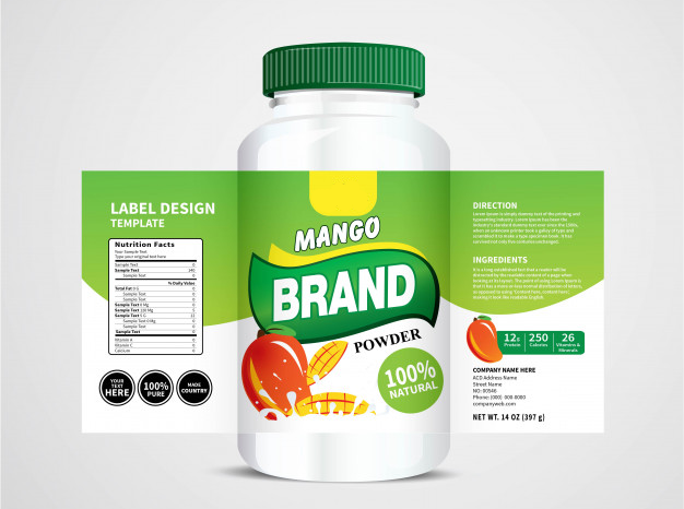 Product with label